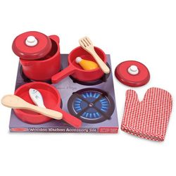 Melissa & Doug Play Kitchen Pots & Pans