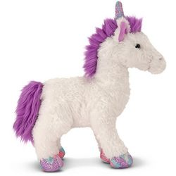 Melissa & Doug Misty White Unicorn Plush Toy