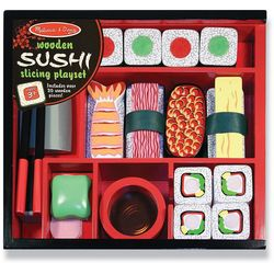 Melissa & Doug Sushi Slicing Wooden Play Set