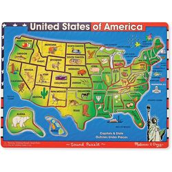 Melissa & Doug 40-pc. USA Map Sound Puzzle