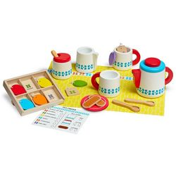 Melissa & Doug Wooden Steep & Serve Tea Play Set
