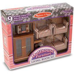 Melissa & Doug Living Room Dollhouse Furniture Set