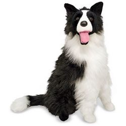 Large Border Collie Stuffed Animal