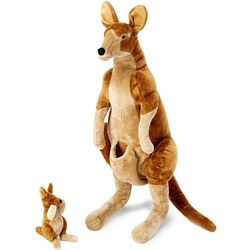 Large Kangaroo & Joey Stuffed Animal