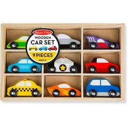 9-pc. Wooden Car Set