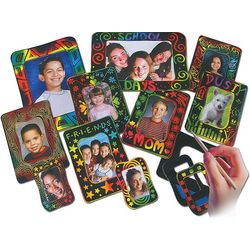 Melissa & Doug Scratch Art Photo Frames Group Pack