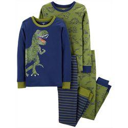 Carters Little Boys 4-pc. Dinosaur Stripe Pajama Set