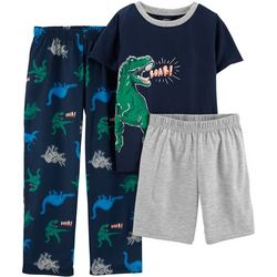 Carters Little Boys 3-pc. Dinosaur Roar Pajama Set