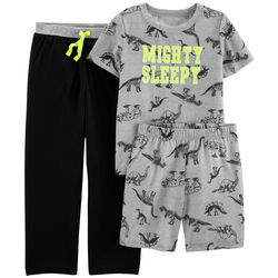 Carters Little Boys 3-pc. Mighty Sleepy Dino Pajama Set
