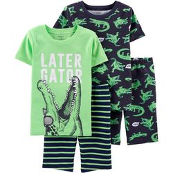 Carters Little Boys 4-pc. Later Gator Pajama Shorts Set