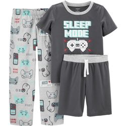 Carters Little Boys 3-pc. Sleep Mode Pajama Set