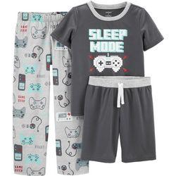 Carters Little Boys 3-pc. Sleep Mode Pajama Set