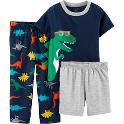 Carters Toddler Boys 3-pc. Cool Dinosaur Pajama Set