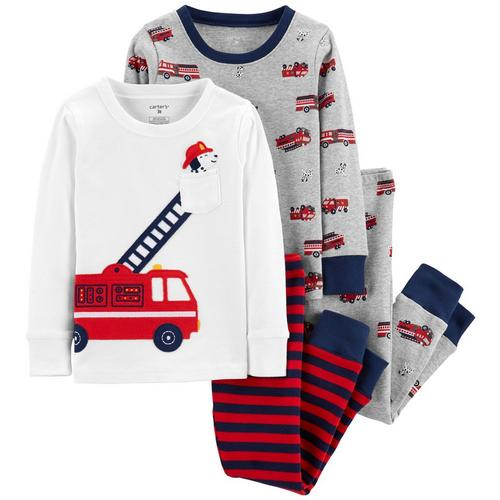 b7ae581ab Carters Toddler Boys 4-pc. Fire Dog Pajama Set
