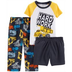Carters Toddler Boys 3-pc. Bedtime Is Hard Work Pajama Set