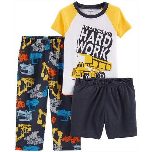 c0dd1c86516a Carters Toddler Boys 3-pc. Bedtime Is Hard Work Pajama Set
