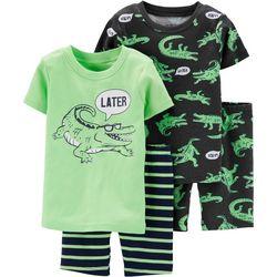 Carters Toddler Boys 4-pc. Later Gator Pajama Shorts