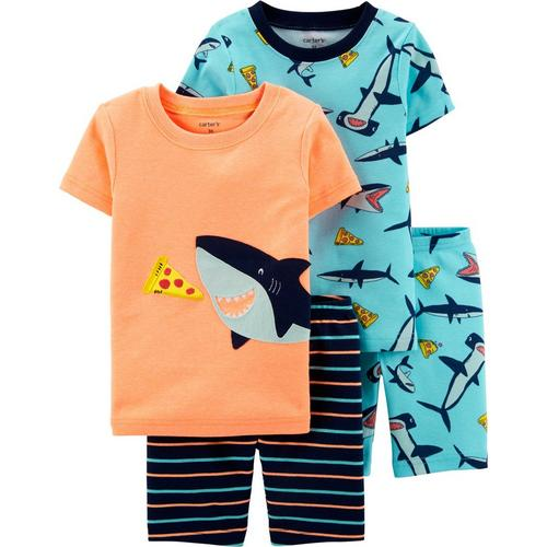 8d557f985 Carters Toddler Boys 4-pc. Pizza Shark Pajama Shorts Set | Bealls Florida