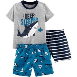 Carters Toddler Boys 3-pc. Deep Sleeper Pajama Shorts Set