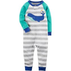 Carters Toddler Boys Striped Whale Jumpsuit