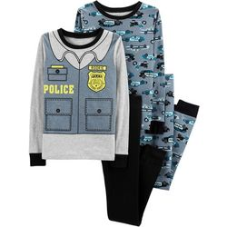 Carters Little Boys 4-pc. Police Pajama Set