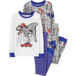 Carters Little Boys 4-pc. Dinosaur Pajama Set
