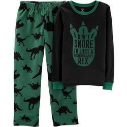Carters Little Boys I Don't Snore I'm A T-Rex Pajama Set