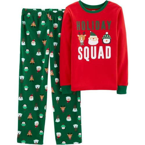 Carters Little Boys Holiday Squad Fleece Pajama Set  2740be184