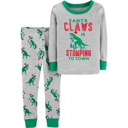 Carters Toddler Boys Santa Claws Dinosaur Pajama Set