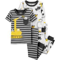 Carters Toddler Boys 4-pc. Construction Pajama Set
