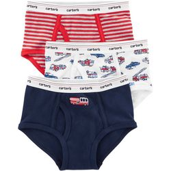Carters Little Boys 3-pk. Firetruck Briefs