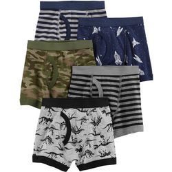 Carters Little Boys 5-pk. Striped Mix Boxer Brief