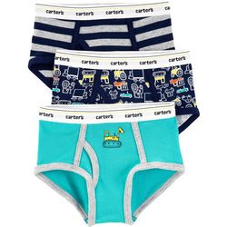 Carters Little Boys 3-pk. Construction Stripe Briefs