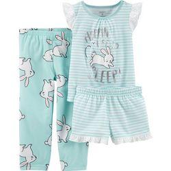 Carters Toddler Girls 3-pc. Hoppin' To Sleep Pajama