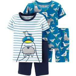 Carters Toddler Boys 4-pc. Walrus Pajama Shorts Set