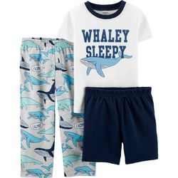 Carters Toddler Boys 3-pc. Whaley Sleepy Pajama Pants Set