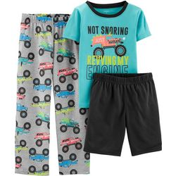 Carters Little Boys 3-pc. Revving My Engine Pajama Set