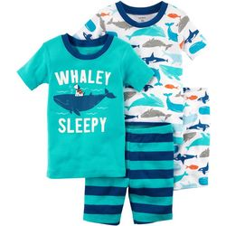 Carters Toddler Boys 4-pc. Whaley Sleepy Pajama Set