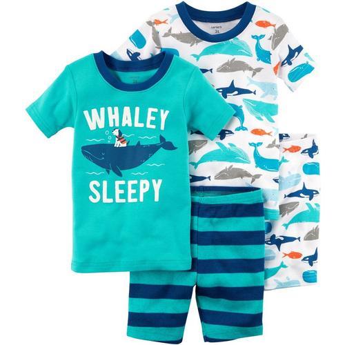 9b65a2839955 Carters Toddler Boys 4-pc. Whaley Sleepy Pajama Set