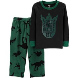 Carters Toddler Boys I Don't Snore I'm A T-Rex Pajama Set