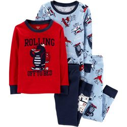 Carters Toddler Boys 4-pc. Rolling Off To Bed Pajama Set