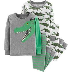Carters Toddler Boys 4-pc. Alligator Stripe Pajama Set