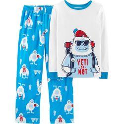 Carters Little Boys Yeti Or Not Pajama Set