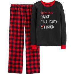 Carters Little Boys Santa I Tried Pajama Set