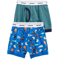Carters Little Boys 2-pk. Cotton Football Boxer Brief