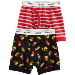 Carters Little Boys 2-pk. Cotton Foodie Boxer Briefs