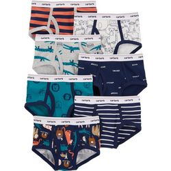 Carters Little Boys 7-pk. Animal Print Cotton Briefs