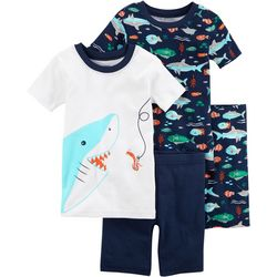 Carters Little Boys 4-pc. Shark Bite Pajama Set