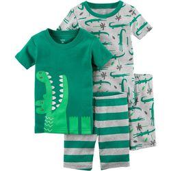 Carters Toddler Boys 4-pc. Gator Pajama Set