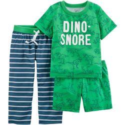 Carters Toddler Boys 3-pc. Dino-Snore Pajama Set
